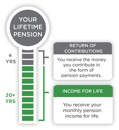 Your lifetime pension graph